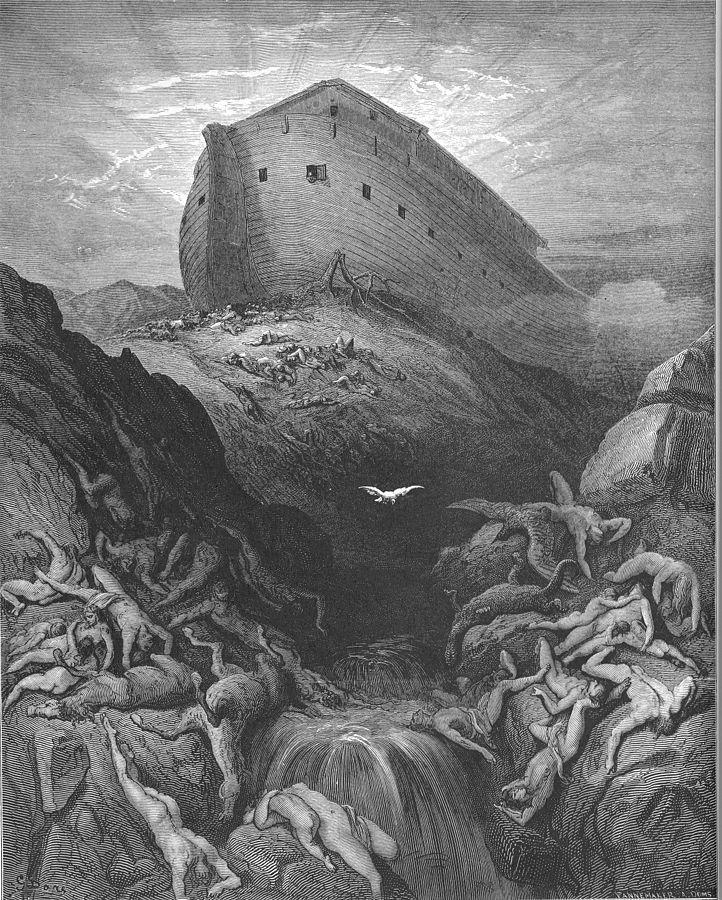 Holubice je vyslána z archy. (Gen. 8:1-13)